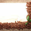 Stock Photo: Menu Design.Old paper, coffee bean