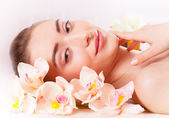 Beautiful woman relax in spa — Stock Photo