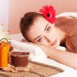 Beautiful woman relax in spa — Stockfoto