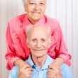 Positive elderly couple happy - Stock fotografie