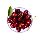 Perfect sweet cherries isolated — Stock Photo