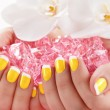 Stock Photo: Beautiful manicure nail salon
