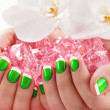 Beautiful manicure nail salon — Stock Photo