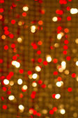 Red golden glowing background. Christmas card. — Stock Photo