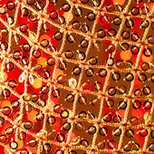 赤い金色の輝く背景。クリスマス カード. — ストック写真