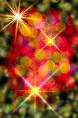 マルチカラーの熱烈な背景。クリスマス カード. — ストック写真