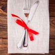 Festive table setting — ストック写真