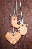 Biscoitos de natal com decoração festiva — Foto Stock