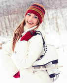 Beautiful young woman smiling happily. — 图库照片