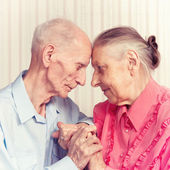 Senior Man, Woman with their at Home. — Stock Photo