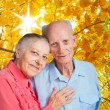 Old people holding hands. Closeup. — Stock Photo