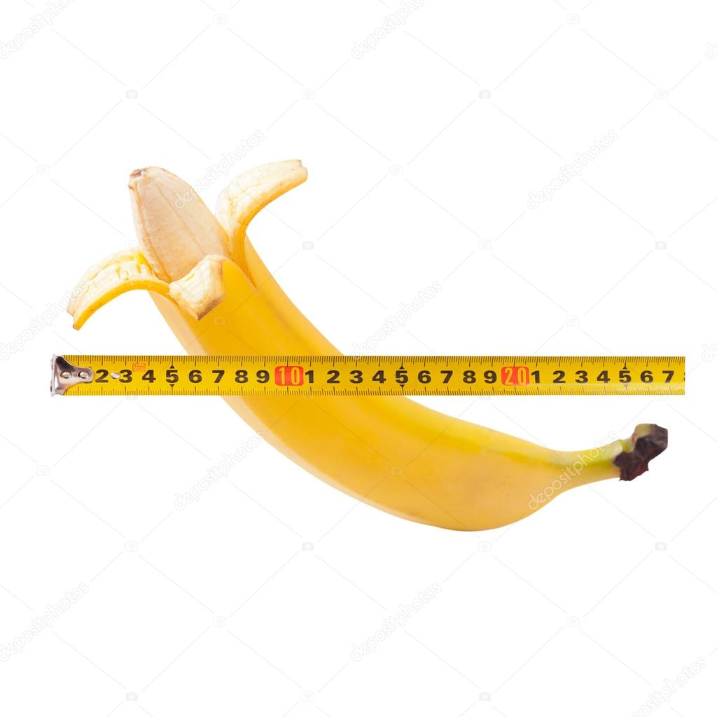 Man measuring penis
