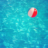 Blue swimming pool rippled water detail — Stock Photo