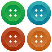 Set of Colorful Sewing Buttons — Stock Vector
