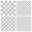Royalty-Free Stock Imagem Vetorial: Set of Two Metal or steel Grids as Seamless Vector Background