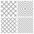 Set of Two Metal or steel Grids as Seamless Vector Background — Stock vektor