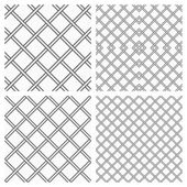 Set of Two Metal or steel Grids as Seamless Vector Background — Stock Vector