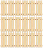 Set of Three Wooden Fences, Seamless — Stock Vector