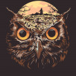 Vector de stock : Owl