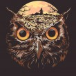 The owl — Image vectorielle