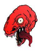 Red t-rex — Stock Vector