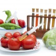 Stock Photo: Concept on genetic manipulation of food