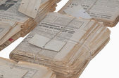 Old newspapers packed — Stock Photo