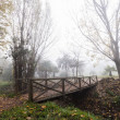 Wooden Bridge in Autumn — Stock Photo