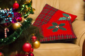 Christmas pillows. — 图库照片