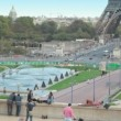 Stock Video: Trocadero Fountains in Paris
