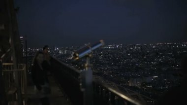 The observation deck at the Eiffel Tower — Stock Video