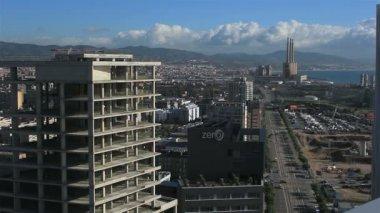 Vista panorámica de barcelona — Vídeo de Stock