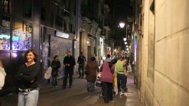 Alley in Barcelona — Stock Video