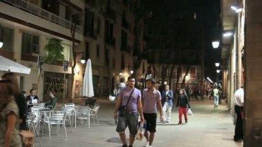Boulevard in Barcelona — Stock Video