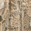Architectural facade fretwork of the Sagrada Familia in Barcelona — Stock Video