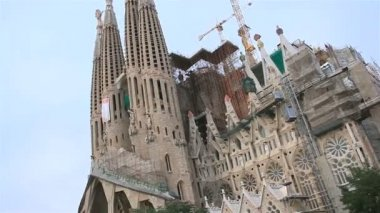 The restoration of the temple in Barcelona — Stock Video