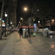 Stock Video: Boulevard in Paris at night
