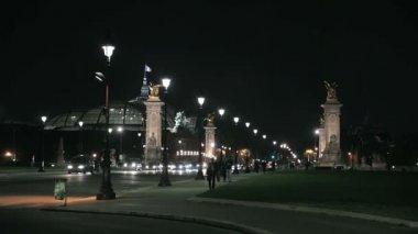 Paris at Night — Stock Video