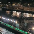 Excursion boat floats down the river in Paris — Stok video