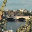 Stock Video: River Seine and bridge in Paris, France