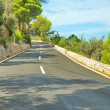 Part of serpentine road in Palma de Mallorca — Stock Photo