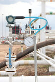 Pressure transmitter in oil and gas process — Stock Photo