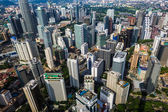 Kuala Lumpur aerial photo of the city — Stock Photo