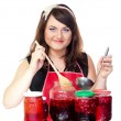 Stock Photo: Cherry woman