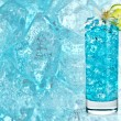 Stock Photo: Blue alcohol cocktail