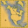 Antique map of North America — Stock Photo #11644517
