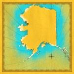 Antik harita alaska — Stok fotoğraf #11644613