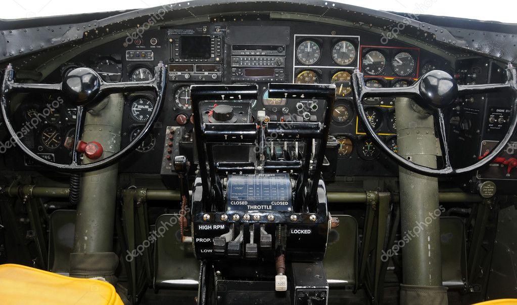 飞机驾驶舱 — 图库照片