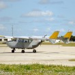 Old turboprop airplane — Stock Photo #11787424