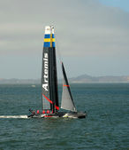 Artemis racing team sailboat — Stock Photo